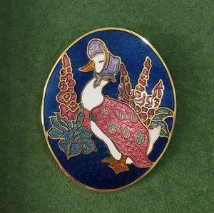 Beatrix Potter Jamima Puddle Duck Brooch
